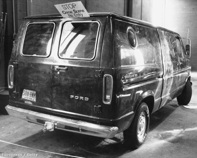A rabláshoz használt teherautó a JFK reptéren