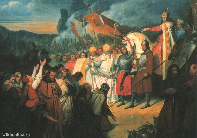 Nagy Károly fogadja Widukind követeit
