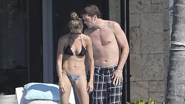 Tom Brady és Gisele Bündchen az apartmanban a kisbabával