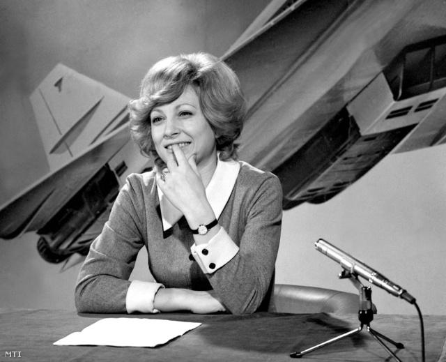 Kudlik Júlia, a Delta műsorvezetője, 1974-ben