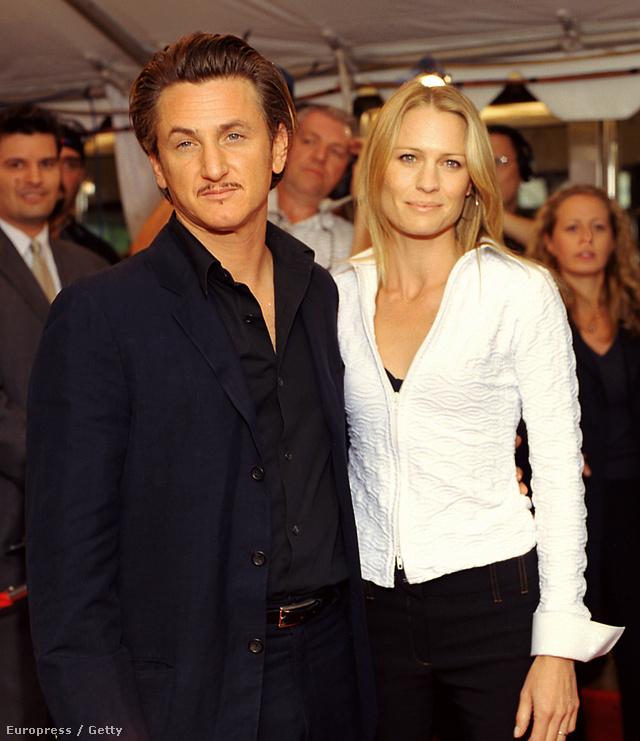 Sean Penn és Robin Wright 2002-ben