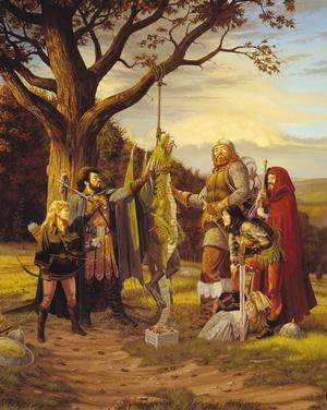 Egy festmény az AD&D egyik kiadásából