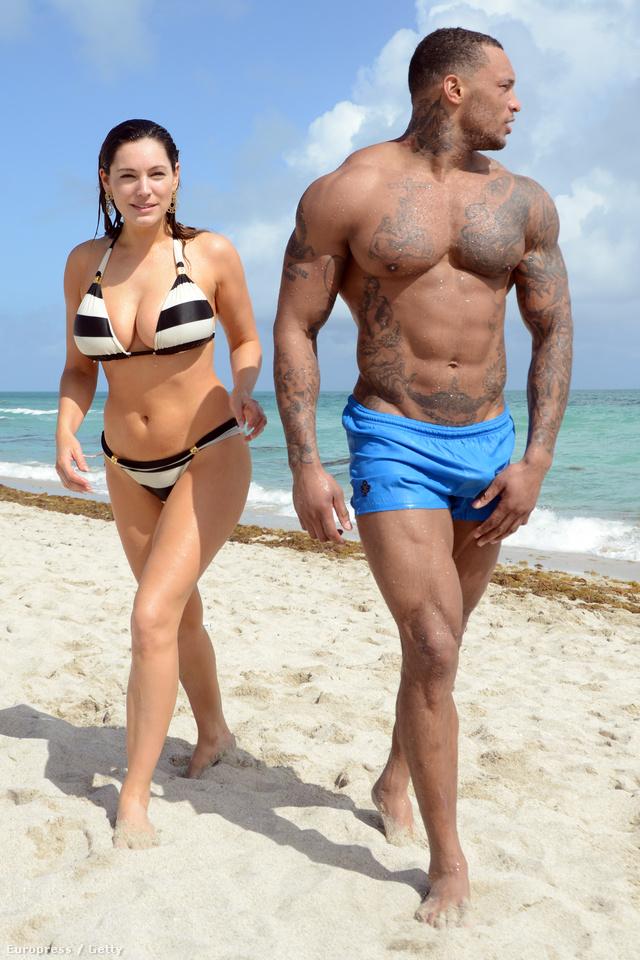 A modell és a gladiátor Miamiben fürdőztek