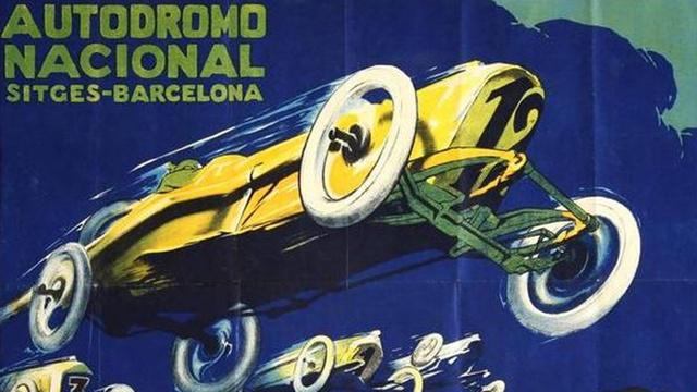 Az 1923-as grand prix plakátja