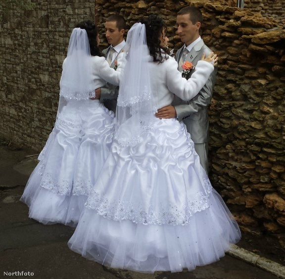 Ez pedig egy ukrán ikeresküvő