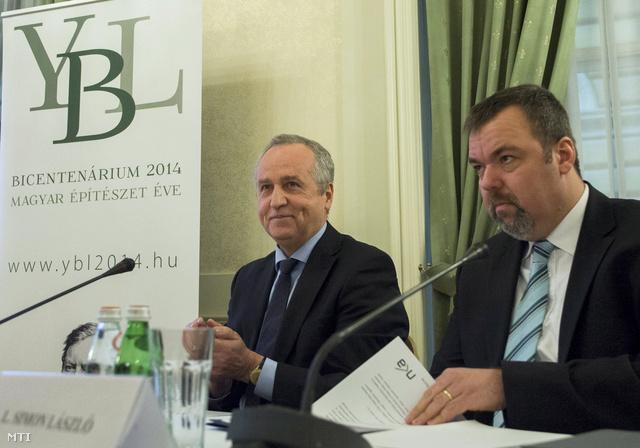 Kontrát Károly és L. Simon László sajtótájékoztatót tart az Ybl-emlékév programjairól és a Várkert Bazár I. ütemének megnyitásáról