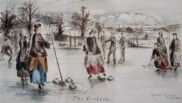 800px-Curling at Eglinton castle, Ayrshire, Scotland