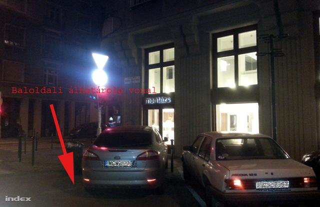 A képen nem a megbüntetett autó látható.