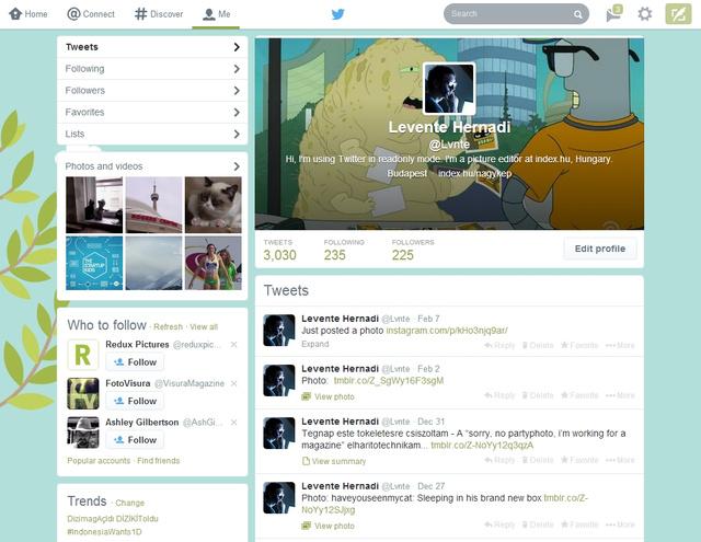 Így néz ki most egy Twitter-profil