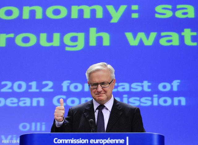 Ollie Rehn az Európai Bizottság országjelentését mutatja be 2013. november 7-én