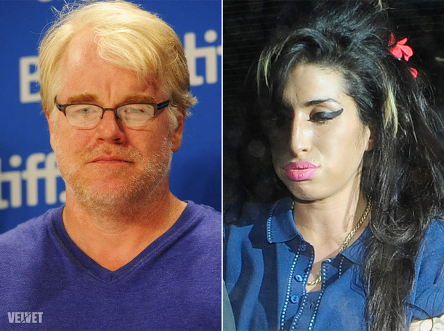 Philip Seymour Hoffman és Amy Winehouse