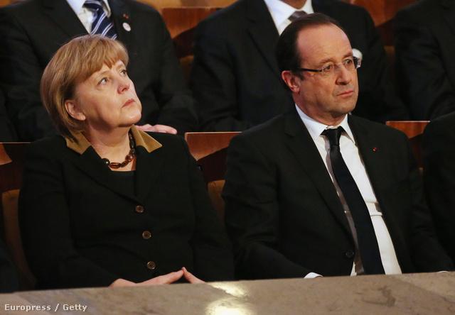 Angela Merkel német kancellár és Francois Hollande