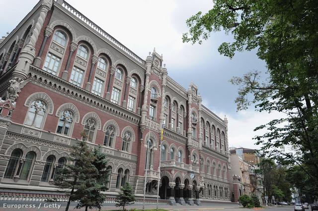 Az ukrán jegybank épülete Kijevben