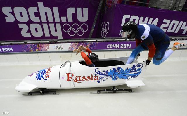 Az oroszok férfi kettes bobcsapata Alexander Kasjanov és Maxim Belugin