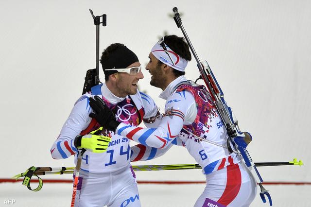 Jean Guillaume Beatrix és Martin Fourcade