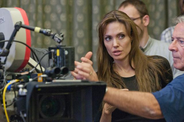 Angelina Jolie a film forgatásán