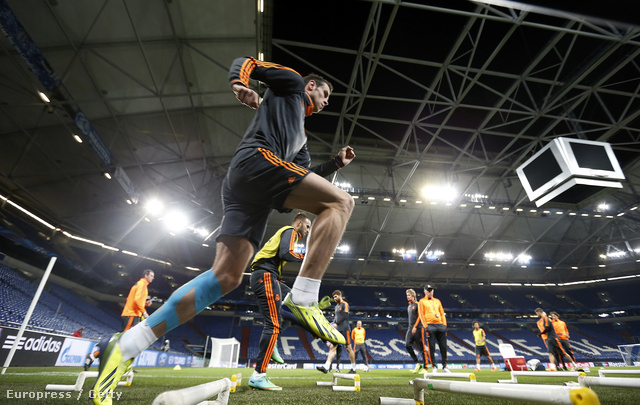 Gareth Bale a Real Madrid edzésén