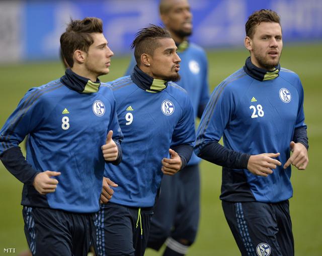 Szalai Ádám (jobbról az első) a Real Madrid elleni meccs előtti napon
