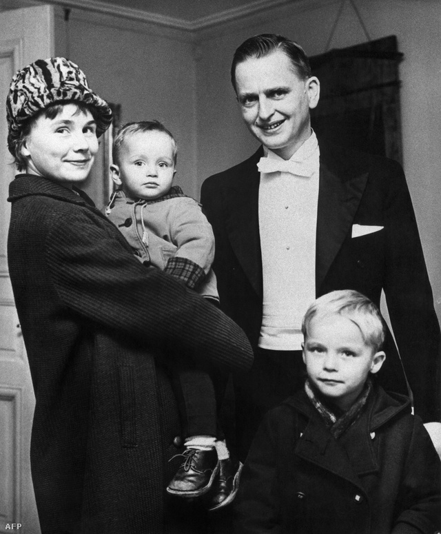 Palme és családja 1968-ban