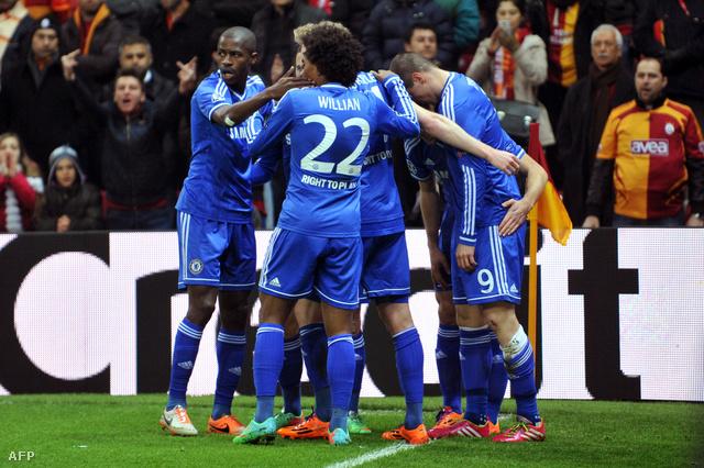 Ünnepel a Chelsea a Galatasaray ellen vívott mérkőzést követően