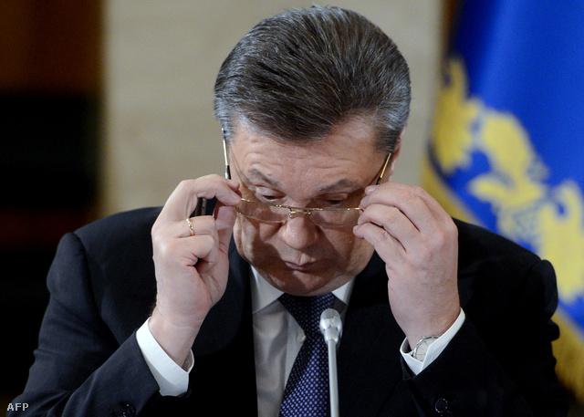Viktor Janukovics, akit 2014. február 22-én az ukrán parlament felmentett elnöki tisztségéből.