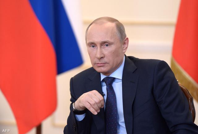 Vlagyimir Putyin a mai sajtótájékoztatóján