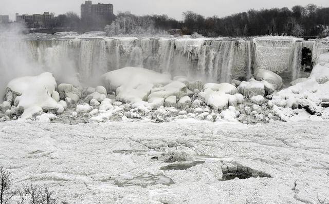 A jegesedő Niagara-vízesés