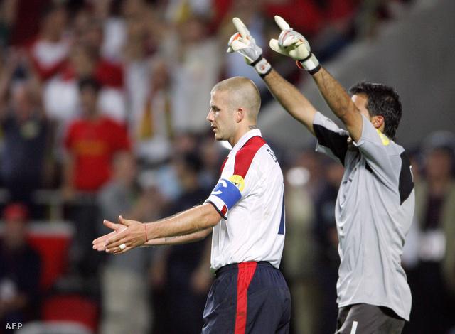 Beckham portugálok elleni kihagyott büntetője