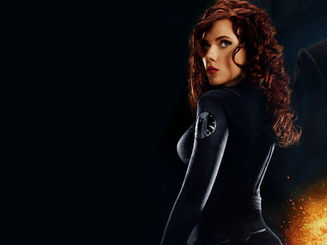 scarlett johansson as black widow in iron man 2-normal