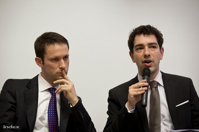 Szabó Márk a Central European Policy Center elemzője és Boros Tamás a Policy Solutions igazgatója