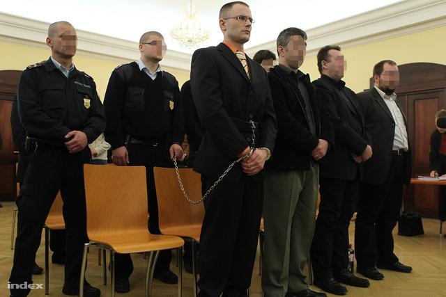 Vádlottak a Zuschlag-ügy ítélethirdetésén, 2011-ben