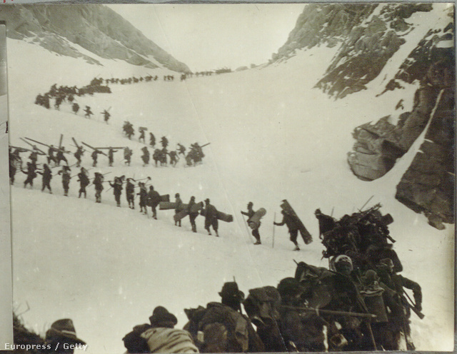 Olasz katonák az Alpokban, az első világháborúban