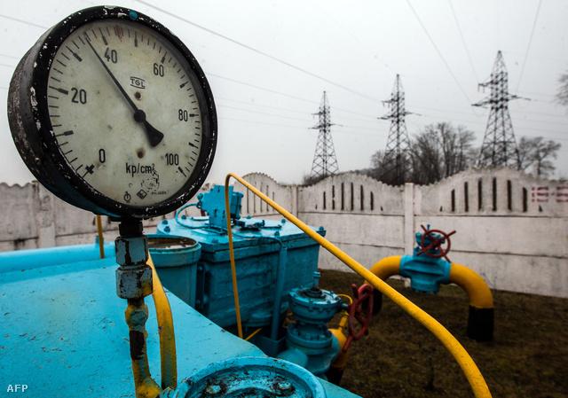 Gáztározó csövei Kijev mellett