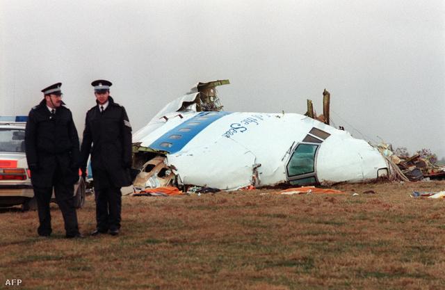 A gép roncsai 1988. december 22-én