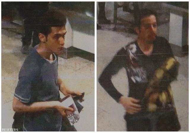 A két férfi, akik feltehetően hamis útlevéllel szálltak gépre