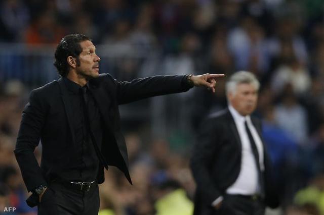 Diego Simeone mindig tisztafeketében dirigál