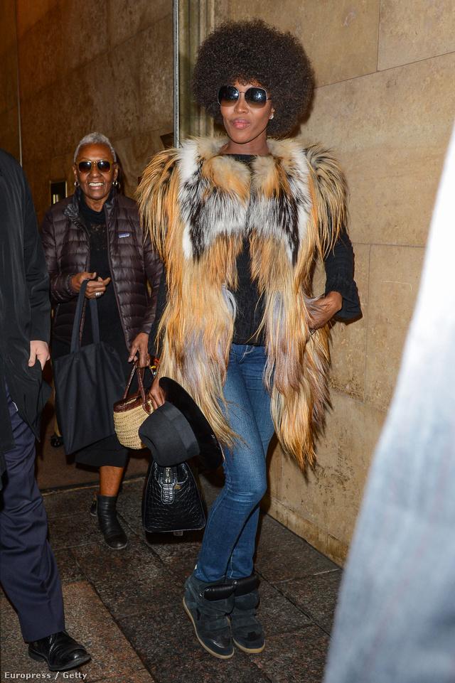 Naomi Campbell március 11-én New Yorkban.