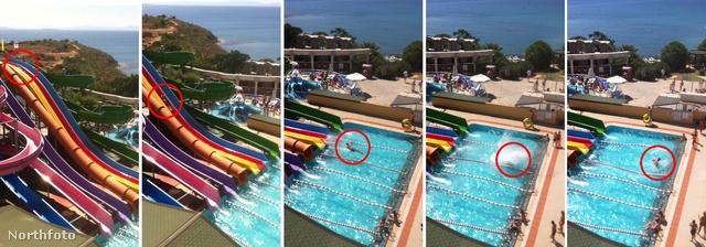 Des Jarvis balesetét több kamera is rögzítette 2012-ben, egy törökországi aquaparkban.