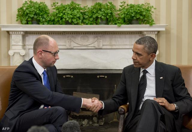 Arszenyij Jacenyuk és Obama