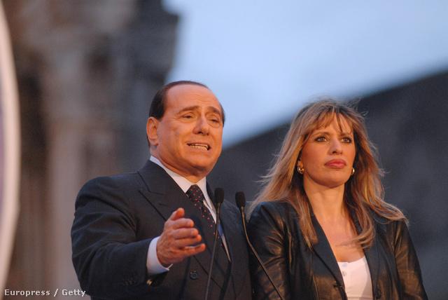 Silvio Berlusconi és Alessandra Mussolini