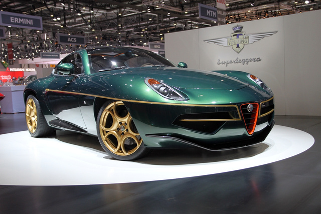 ...az Alfa 8C-ből készített Disco Volante elképesztően szép és elegáns élőben.