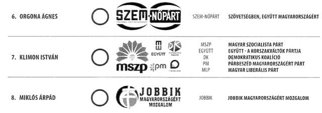 szavazlap
