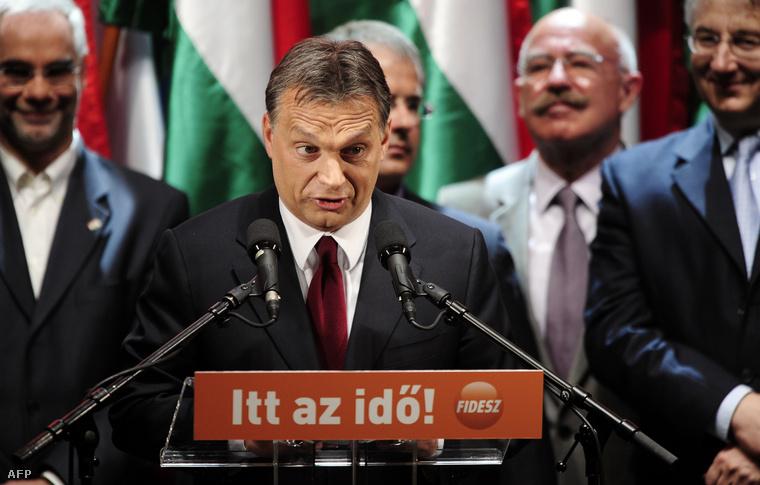 Orbán Viktor a 2010-es választási győzelem napján