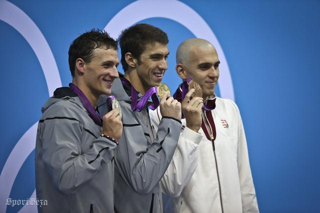 Lochte, Phelps és Cseh a londoni olimpián 2012-ben