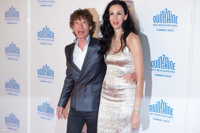 L'Wren Scott és Mick Jagger a 63. Cannes-i filmfesztiválon, 2010. május 19-én.