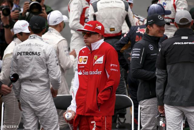 Kimi Raikkönen fázott Ausztráliában