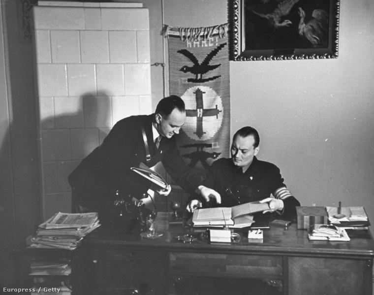 Hubay Kálmán nyilaskeresztes politikus, Szálasi 1940-es szabadulásáig a Nyilaskeresztes Párt vezetője irodájában 1939-ben