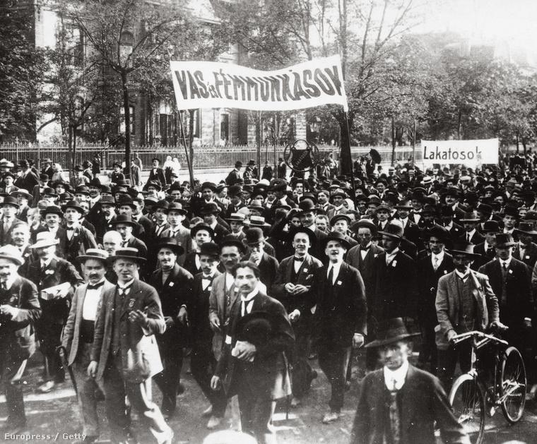 Vas- és fémmunkások tüntetése 1914. tavaszán