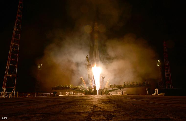 A Soyuz indítása Bajkonurban