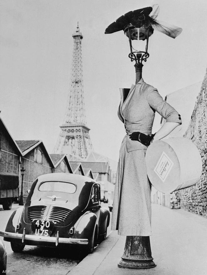 Egy francia divattervező, Jean Dess kalapterve.